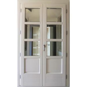porta finestra in legno e in vetro olbia
