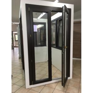 porta finestra in pvc effetto legno