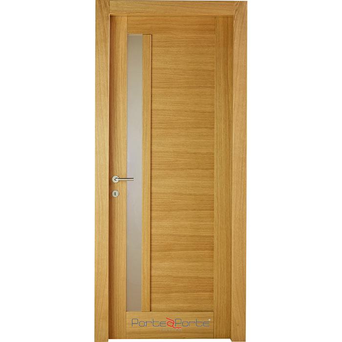 Porte interne in legno con vetro