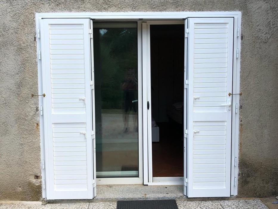 porta finestra 4 ante alluminio