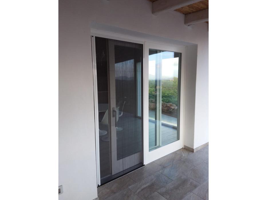porta finestra scorrevole in legno