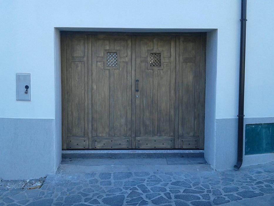 porta garage in legno